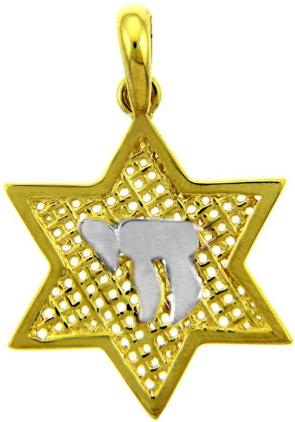 Star of David Pendant with chai