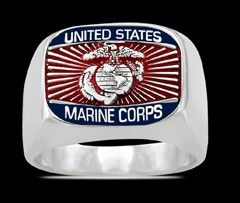 Marine Corps Ring , Silber