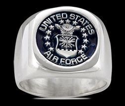 US AIR FORCE Ring , Silber