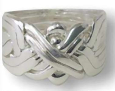 Puzzlering 8 Band 925 Sterling Silber