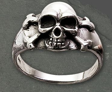 Silberring Pirate Skull