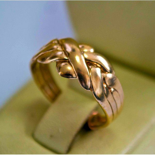 Puzzlerign 14K Gold, 4 Band