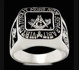 Ring Masonic Silber massiv