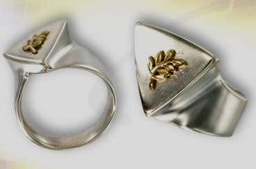 Silber 925 Gold 750 Ring