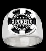 Ring, Silber, Pokerring